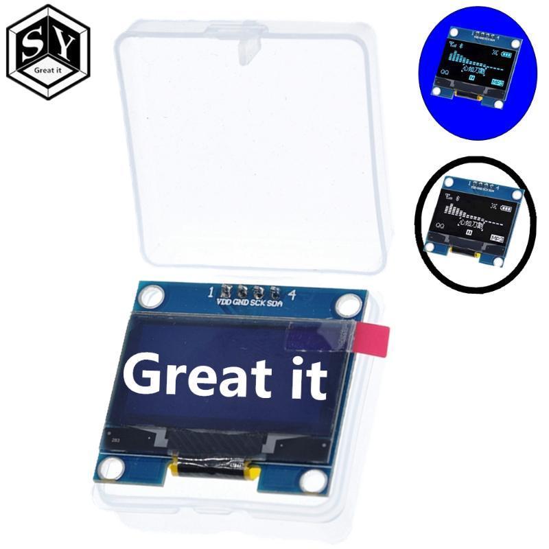 """1.3 """"Modulo OLED OLED Colore bianco 128x64 1.3 pollici MODULO DISPLAY LED LCD OLED 1.3"""" IIC I2C Comunicare con il caso"""