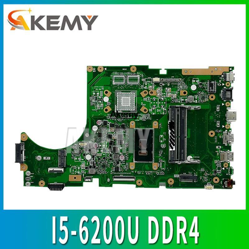 X756UA Laptop motherboard for ASUS X756UB X756UJ X756U X756UX Test mainboard motherboard test 100% oK -6200U DDR4 RAM Slots