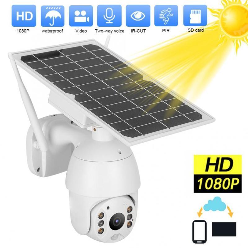 Câmeras WDSKIVI WIFI Painel Solar Solar Bateria À Prova D 'Água 4G Versão IP Câmera 1080P HD CCTV Security Wireless 360 PZT