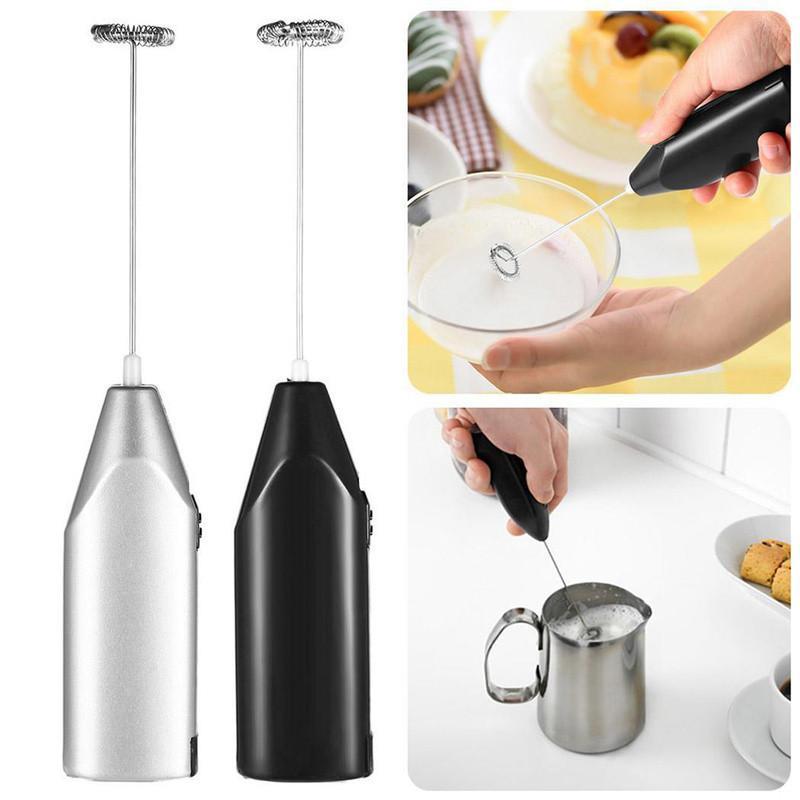 Café en acier inoxydable en acier inoxydable de poche en mousse de mousse de mousse de mousquette électrique Mélangeur de mixeur de batterie à oeufs de cuisine