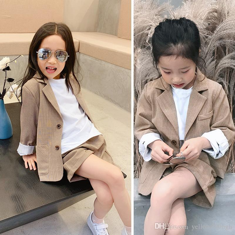Girls Boys Suits for Weddings Kids Blazer School Suit for Boy Costume Toddler Boys Suits Set Formal Girl Suit Children Clothes wqr
