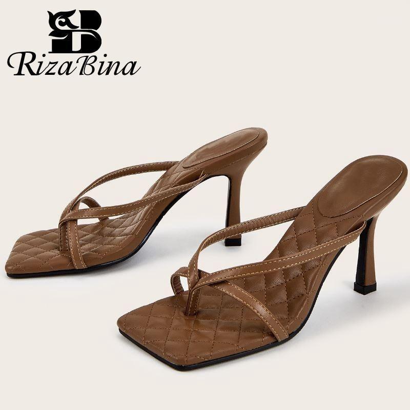 Ризабина Женщины Сандалии на высоком каблуке Мода Летняя обувь Женщина Флип Флоп Ежедневные сексуальные Женские Обувь Вечеринка Обувь 36-421