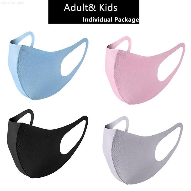 Lavável preto proteção reutilizável Crianças Desinger Anti poluição da poeira Boca Crianças pano de algodão máscara Cara da forma Máscaras FY9041