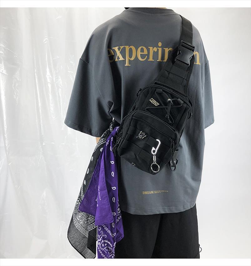 Tactical Backpack Shoulder Men Chest Bags Hip Hop style Streetwear Bag Tactical Chest Pack Designer Cool Crossbody Bags for Men