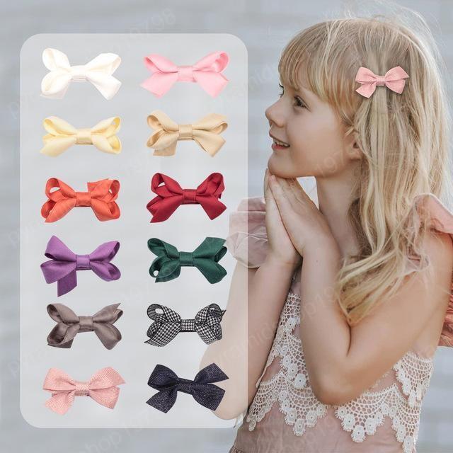 Filles Hair Bow Barrettes 2020 Enfants Boutique Accessoires cheveux coréenne Mode Little Girls Bow Barrettes Bonne qualité