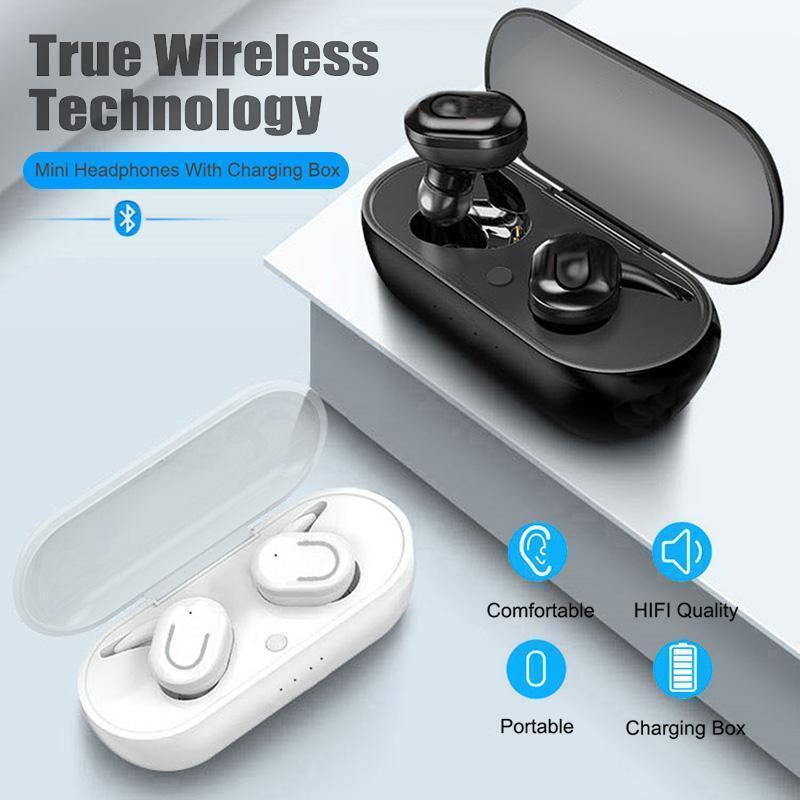 Yeni TWS Bluetooth 5.0 Kulaklık 500mAh Şarj Kutusu Kablosuz Kulaklık 9D Stereo Spor Kulakiçi Mikrofon ile Kulaklık Kulaklık1
