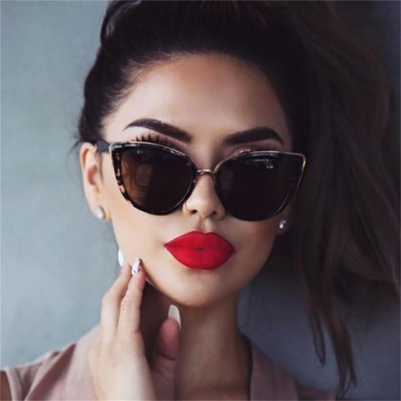 TTLIFE Vintage Kedi Göz Güneş Kadınlar Seksi Bayanlar Açık Leopar Gözlük Metal Çerçeve Güneş Gözlükleri Moda İçin Kadın YJHH0167