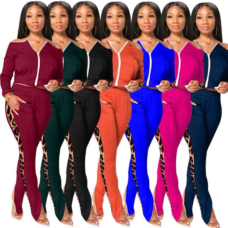 womens veste jambière 2 pantalon de veste de survêtement manches longues ensemble de pièce de sport de sport vêtements de dessus à panneaux collants fixés D34 chaud