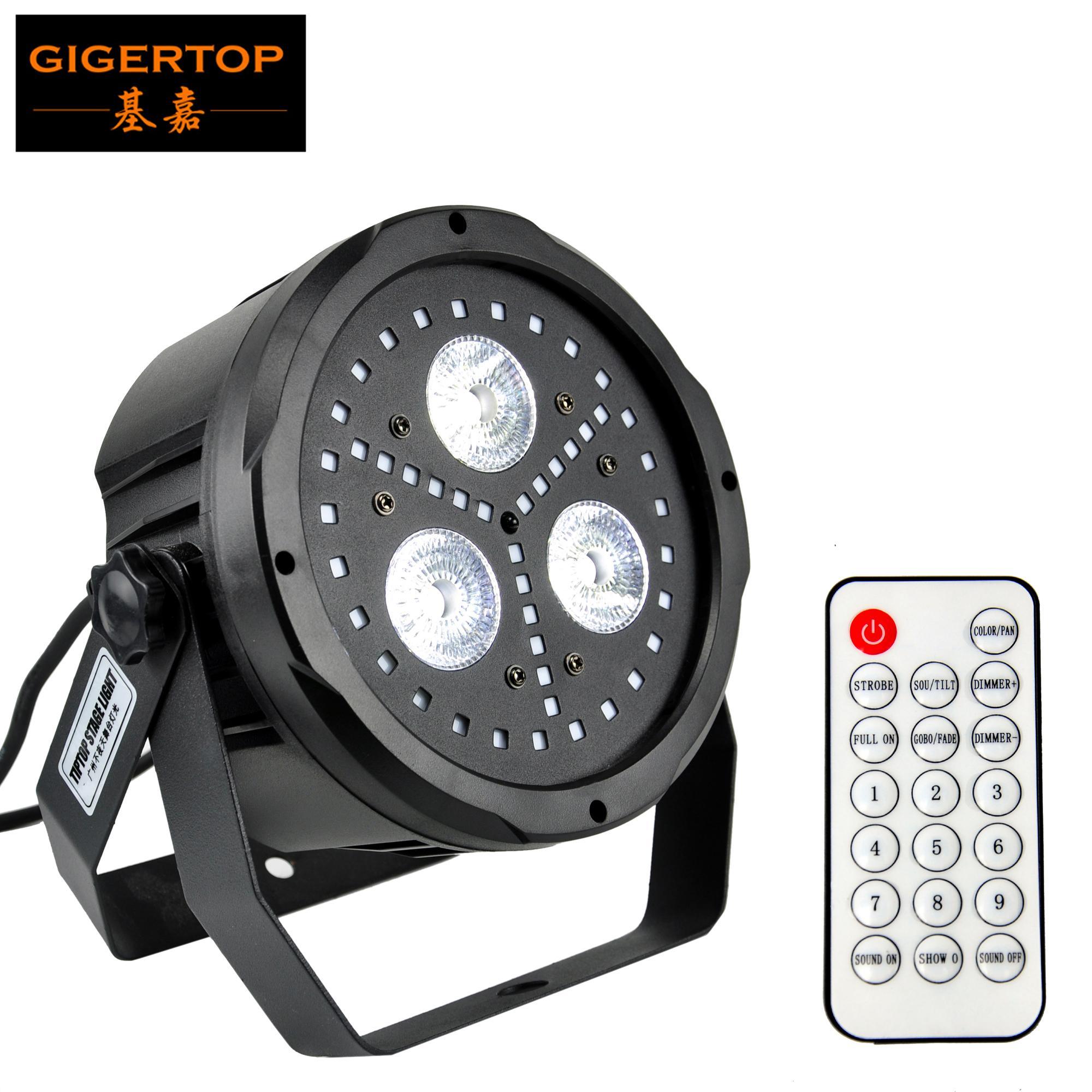 TipTop新しい組み合わせカラフルなフラットLED PARライト3 x 18W RGBWA + UV 6in1 LED 45ピース0.5W RGB SMD LED DMX512コントロール12 / 19CH