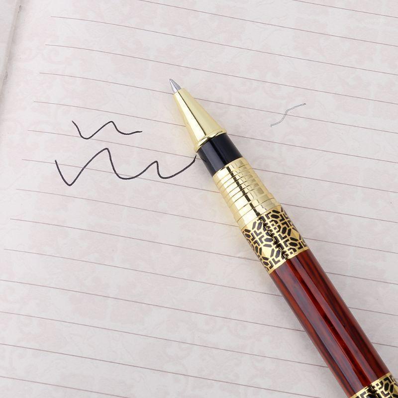 هلام الأقلام المعدنية قلم تقليد الخشب النقش نمط رولربال مكتب المدرسة القرطاسية 1