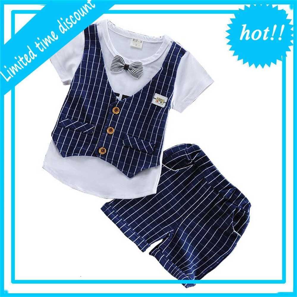 Bibicola Sommer Baby Jungen Set Gittertops + Shorts 2 Stuck Trainingsanzug Sport Fit Kinderkleidung