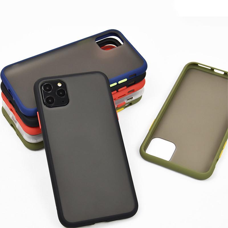 민트 간단한 무광택 아이폰 12 11 Pro XS Max SE 8 7 플러스 Shockproof 소프트 TPU 실리콘 클리어 커버