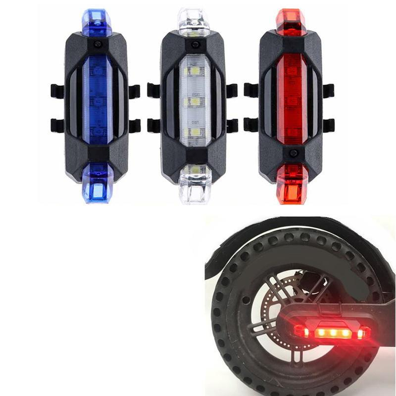 Bicycle Bike Lights LED USB Rechargeable Waterproof Rear TailLight Portable Flash Light Cycling Light Safety Warning
