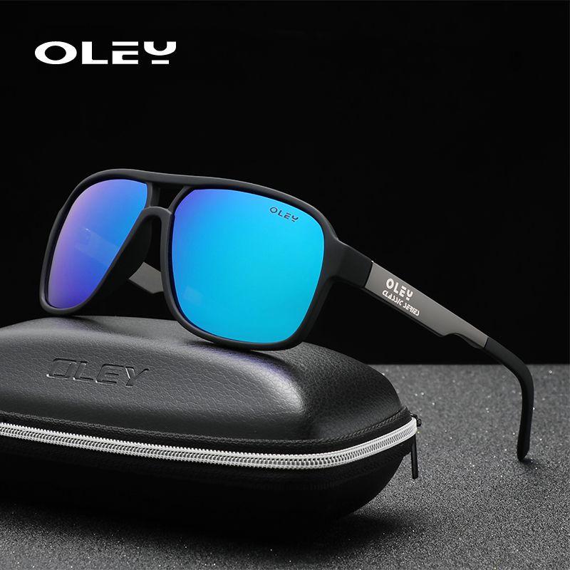 Oley polarisierte Sonnenbrille Männer Art und Weise neue Sport-Art-Quadrat-Sun-Glas-Männer im Freien Spielraum UVschutzbrille können anpassen