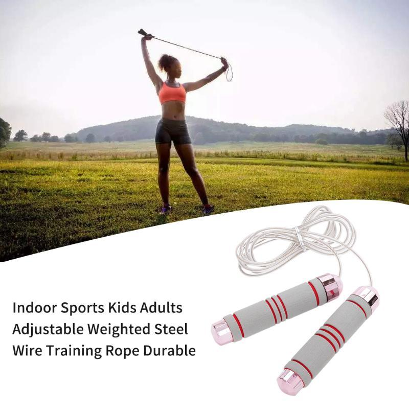 Gym Exercise Tools Indoor Sports Workout Training Rope Steel Wire Adjustable Weighted Athletics Aerobic Fitness Jumping Durable