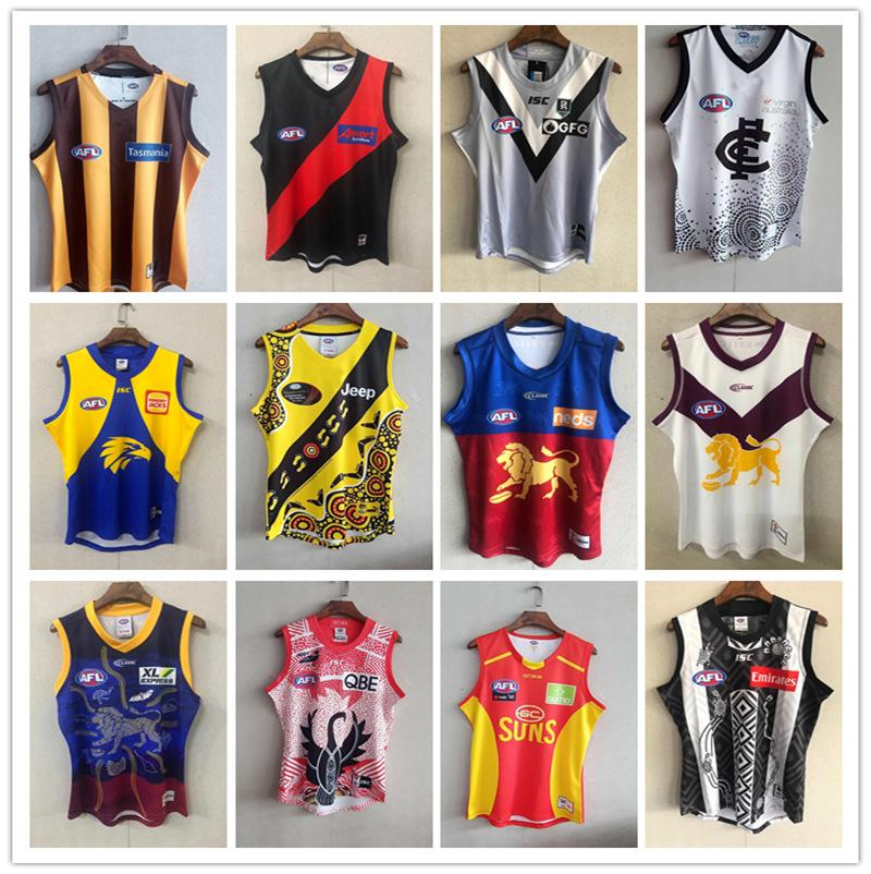 2021 AFL Westküste Eagles Geelong Katzen Rugby Trikots Essendon Bomber Melbourne Blues Adelaide Crows St Kilda Saints Gws Giants Guernsey