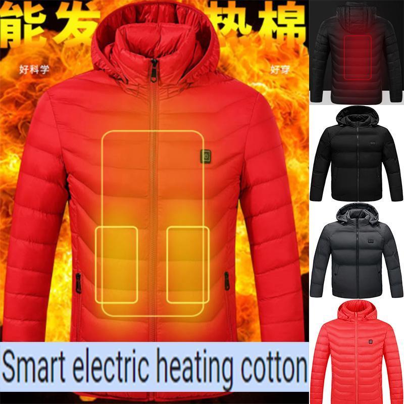 2020 nouvelle 4 zones smart veste en coton rembourré chauffage feuille chauffante mâle commutateur double veste chaude USB électrique parent-Chil