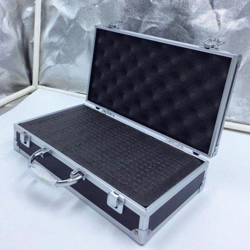 30x17x8cm Aluminum tool box Portable Instrument box Storage Case with Sponge Lining Handheld Impact resistant ToolBox DOca#