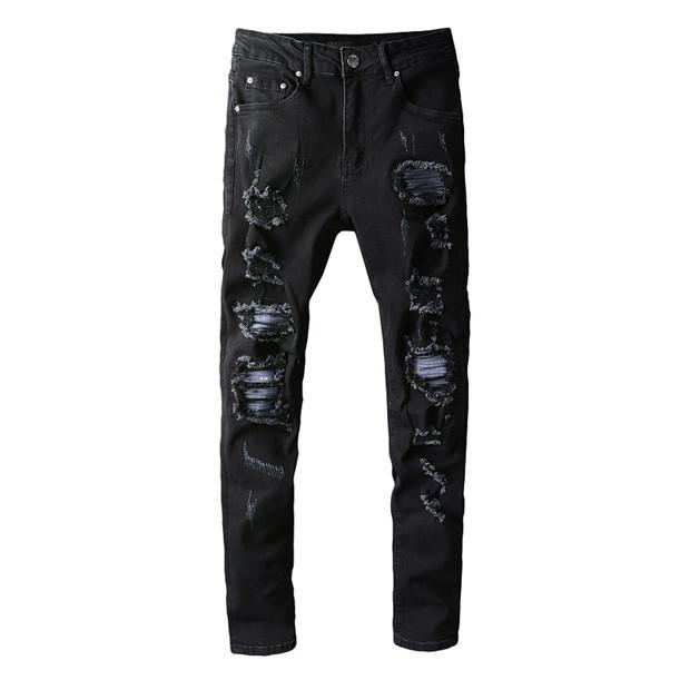 Mens Jeans Designer Français Solide Luxe Slim-jambe Jeans de moto Biker Denim Homme Mode Designer droit Jeans Top Qualité SZ 29-40