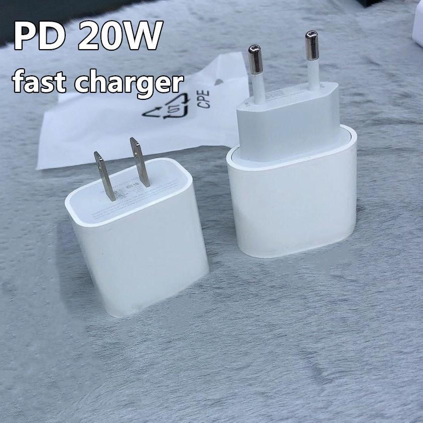 Iphone12 휴대 전화 20 Walt Power CE 승인 어댑터를위한 Type-C 20W EU US 플러그 AC DC PD 빠른 충전기 USB-C 포트가있는 Approved 어댑터