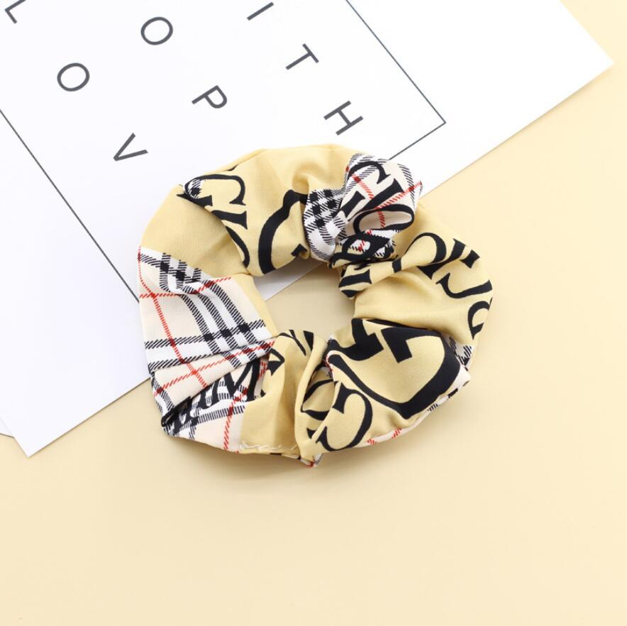 3 farben designer marke mode luxus haar ringe logo betten gedruckt gummibänder großer darm ring kopf seil frauen stoff kopfschmuck