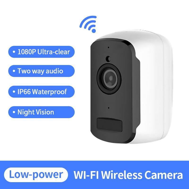 Telecamere 1080P IP Telecamera WiFi Batteria a bassa potenza Portable Security Indoor Security Video Surveillance Wireless USB caricabatterie Nanny Cam Baby Monitor