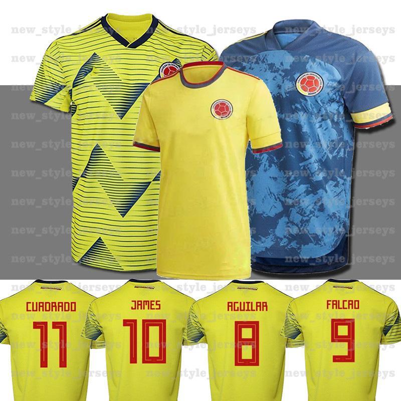 2021 Columbia Soccer Jersey Copa Amérique Columbia Chemise de football Rodriguez Camiseta Maillot de pied Cuadrado Hommes Camisetas de futbol
