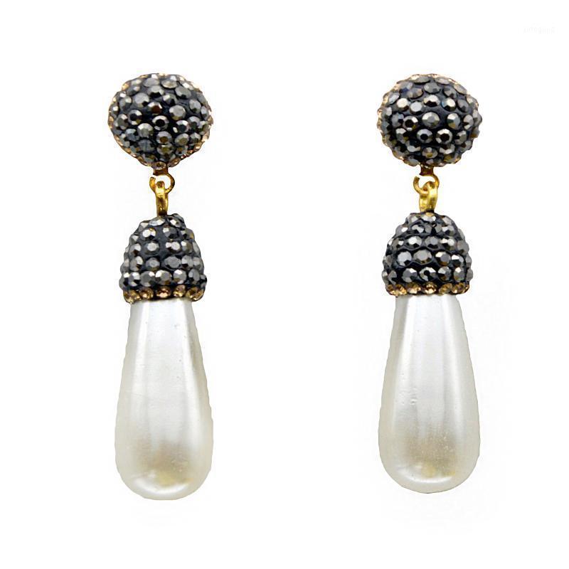 Brincos de pérola para mulheres boho brincos de casamento longo moda jóias 2020 nova garota drop1