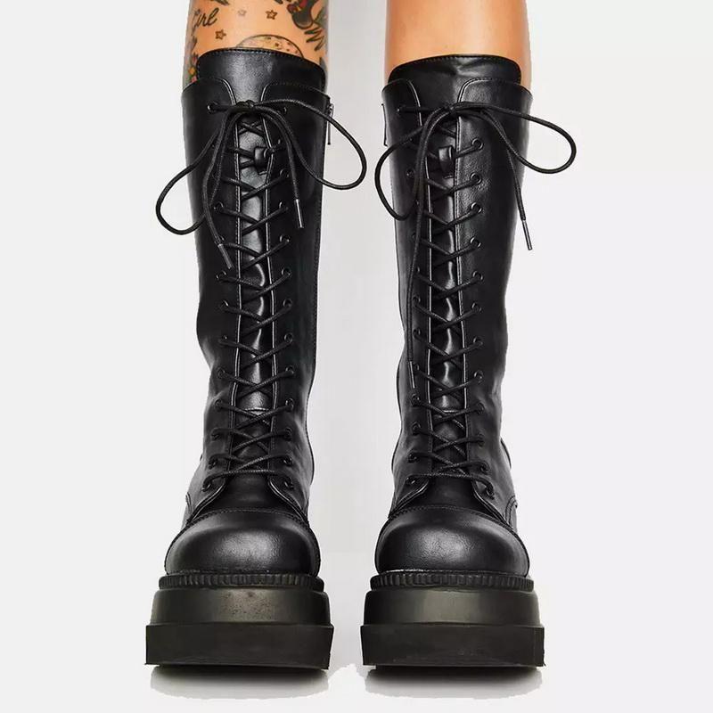 Größe New Big 35-43 Markendesign-Dame-Plattform-Aufladungen Art und Weise Reißverschluss-Absatz-Aufladungen Frauen-Keil-Schuh Frau