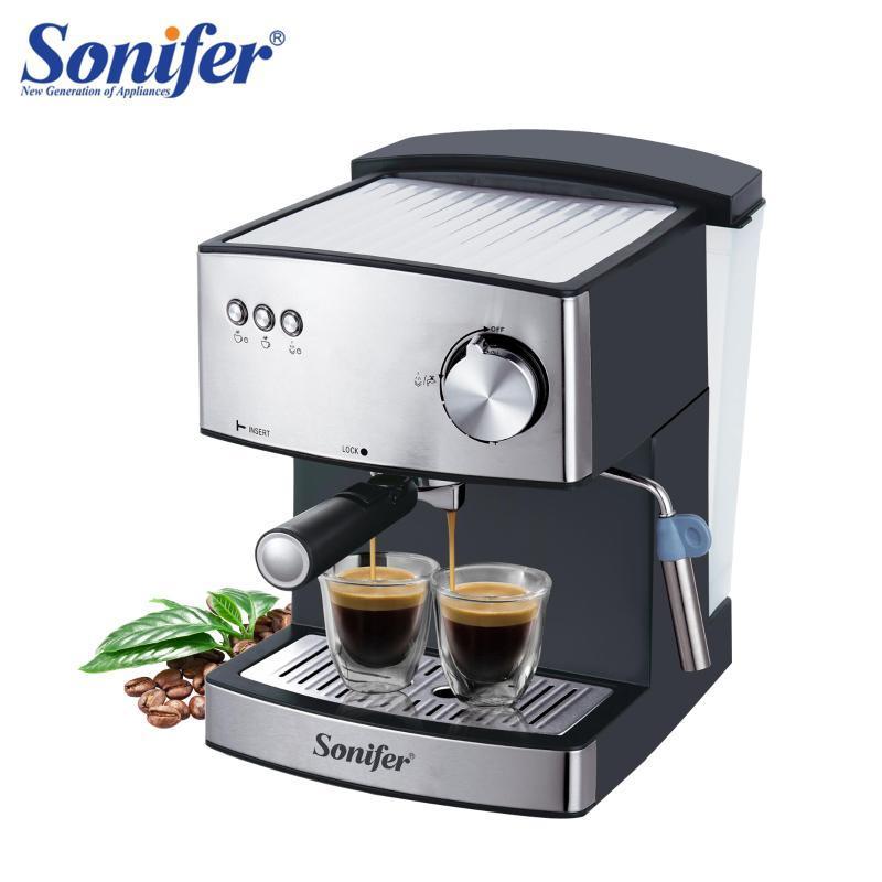 1.6L macchina per caffè espresso elettrico macchina per caffè macinino da caffè 15 bar espresso elettrico fabbricazione di schiuma elettrica elettrodomestici da cucina 220v Spifer