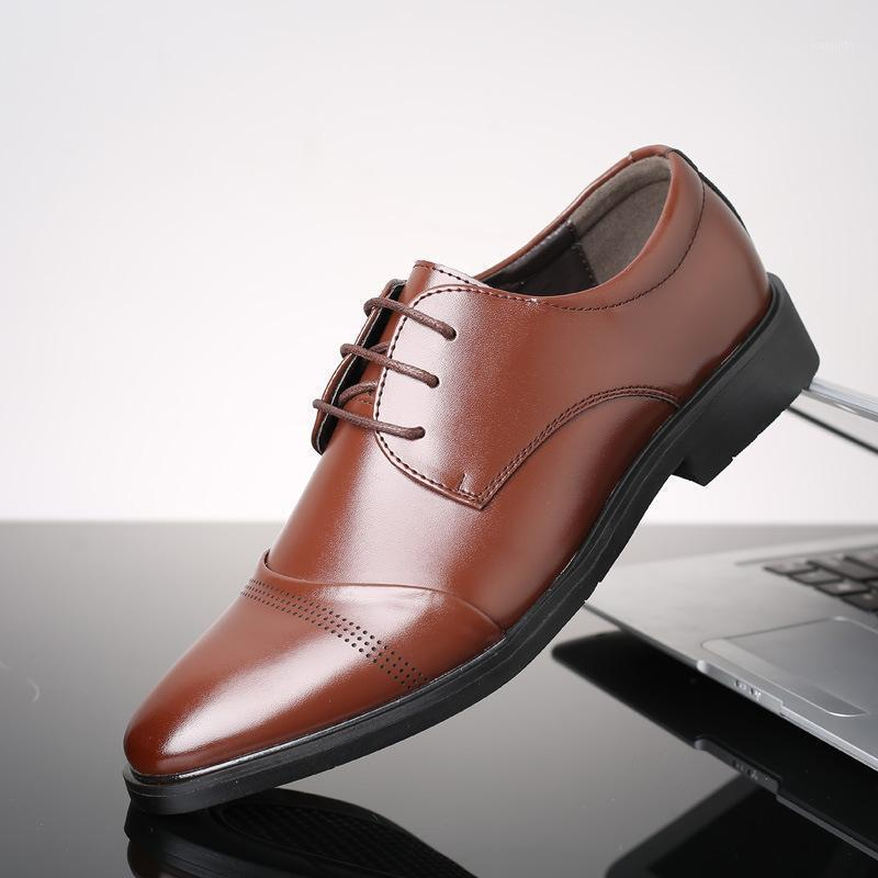 Männer Business Schuhe Formale PU Leder Freizeitschuhe Männer Kleid Büro Luxus Große Größe 48 Männlich Atmungsaktive Schuhe1
