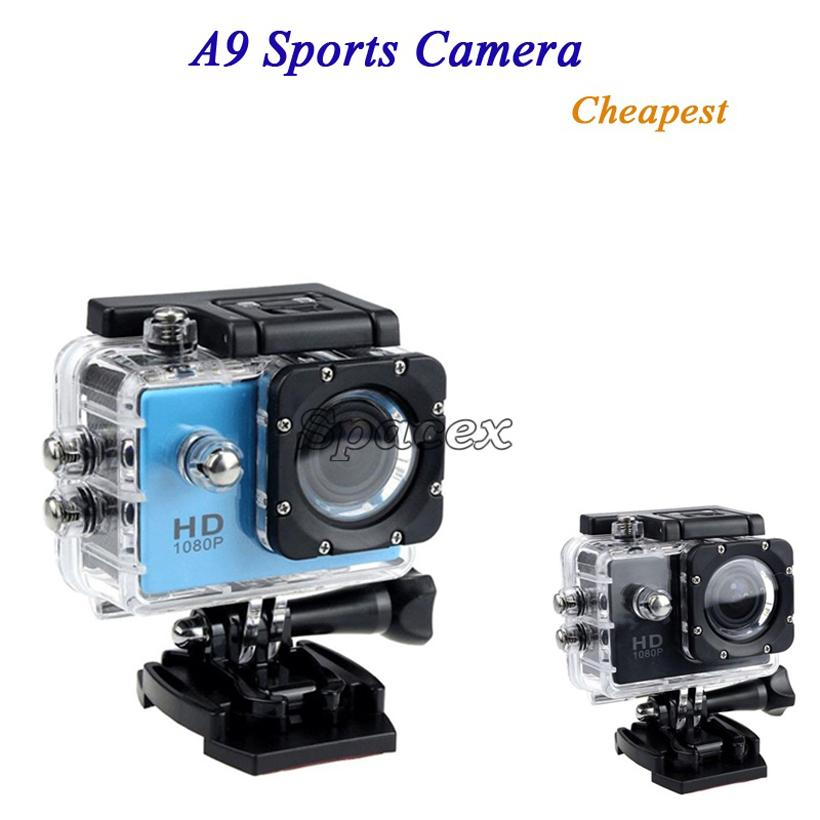 Cheapest A9 SJ4000 1080P Full HD Action Digital Sport Camera 2 Inch Screen Waterproof DV Recording Mini Sking Bicycle Photo Video Camera