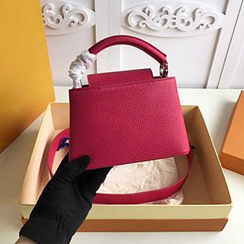 Çanta Çanta Üst Lüks Kutusu Çanta Kalite Buzağı Moda Benim Tasarımcılar Omuz Kadınlar Kadın Çanta Boyutu Büyük Tasarımcı Deri