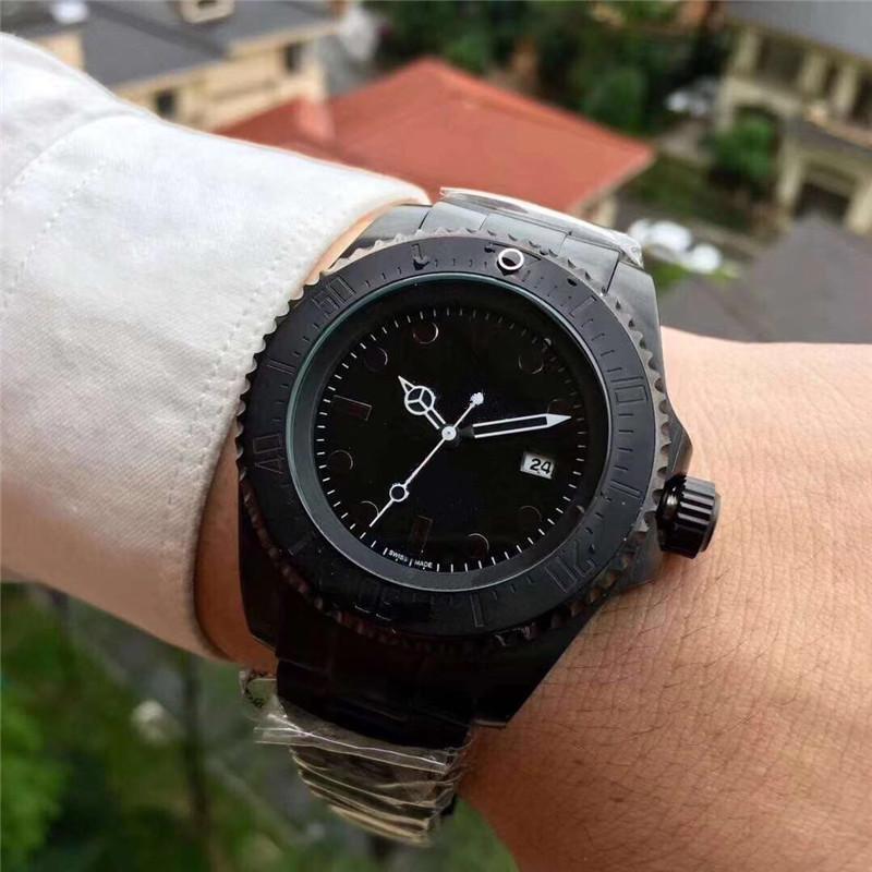 la moda famosa hombres suizos' reloj militar negro máquinas automáticas de alta calidad todos los deportes para hombre de acero inoxidable relojes Montre homme