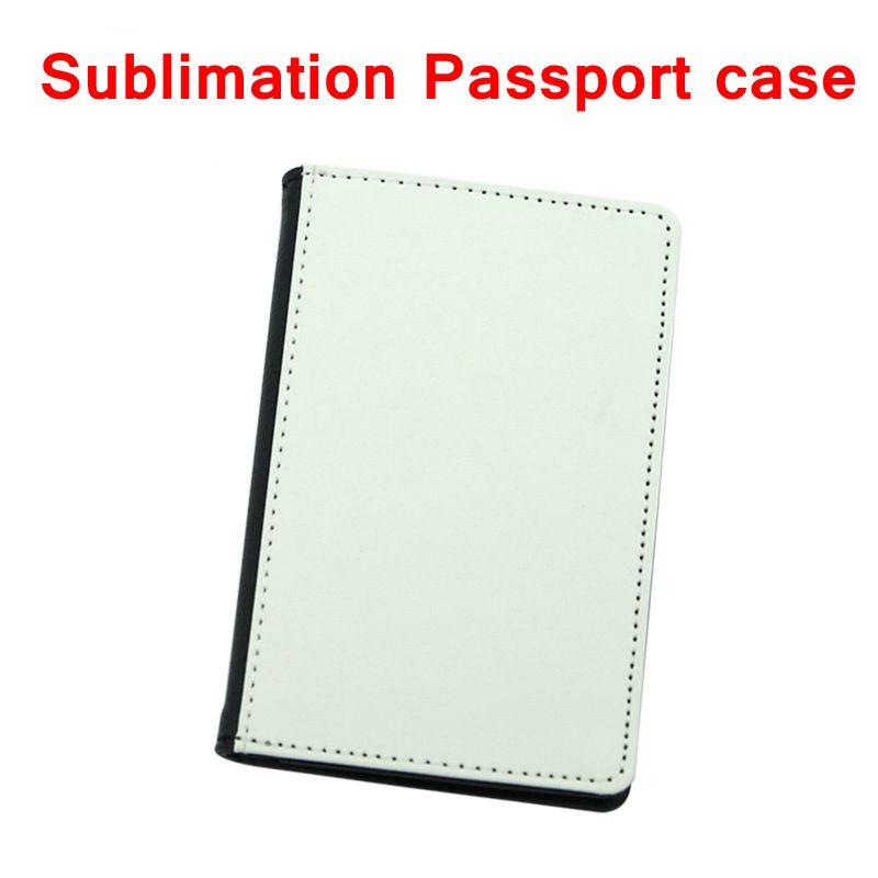 Sublimation Vierge Porte-monnaie Passeport Porte-couvre-cartes Porte-cartes Cover Transfert de chaleur Impression Coffre-fort en cuir PU Case YFA2718
