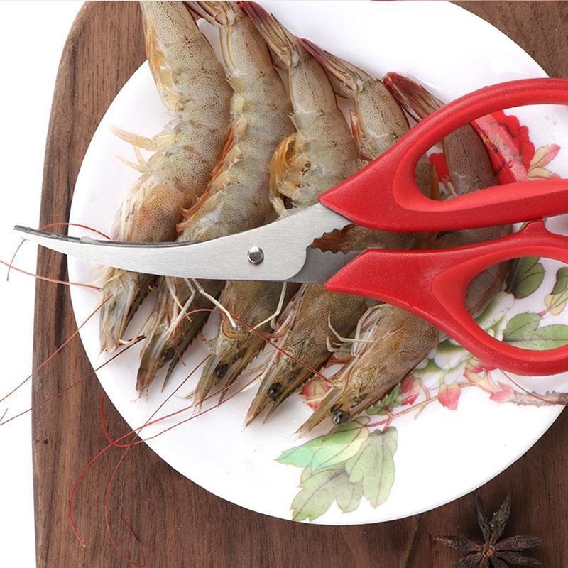 Novo Popular Lobster Camarão Cravo Crab Seafood Scissors Shears Snip Shells Cozinha Ferramenta Popular Livre DHL Frete GWF4425