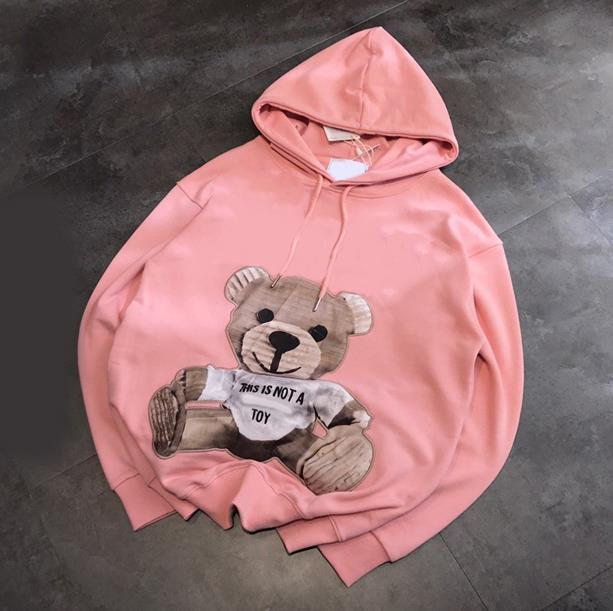 2020 Hotsale Luxurys Designers Brand Mens Women Hoodie Sweaters Embroid Bear Brand Long Sleeves Hoodie Pullover Street Sport Free Ship
