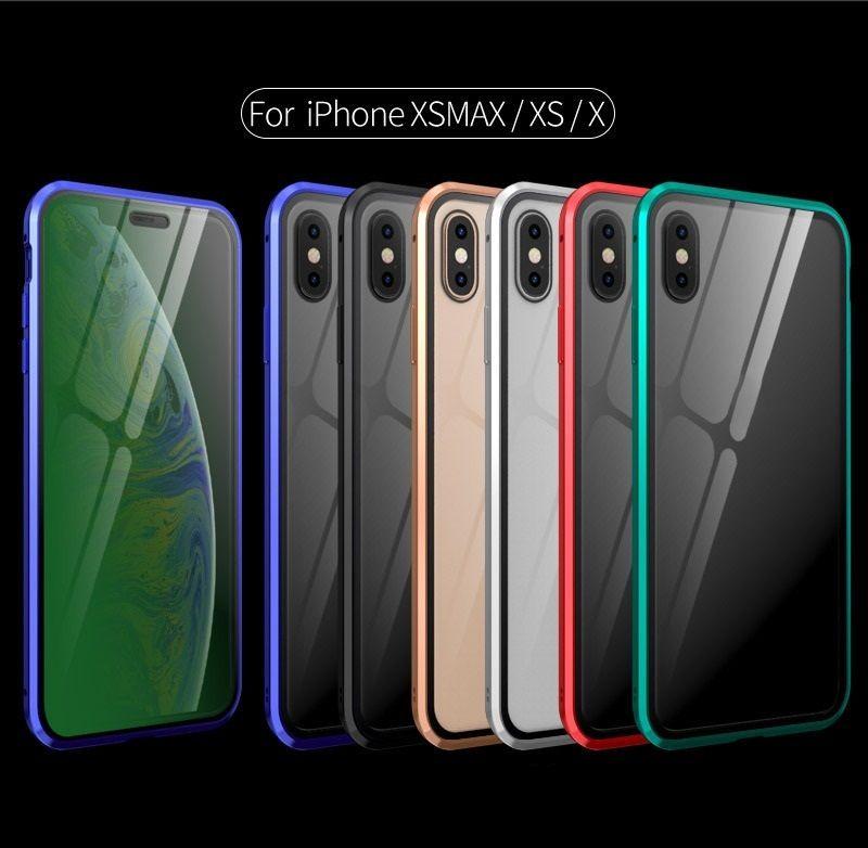 2020 best-seller Adequado para a série iPhone filme verde proteção para os olhos de sucção magnética espessamento do metal caixa do telefone móvel de vidro duplo lado