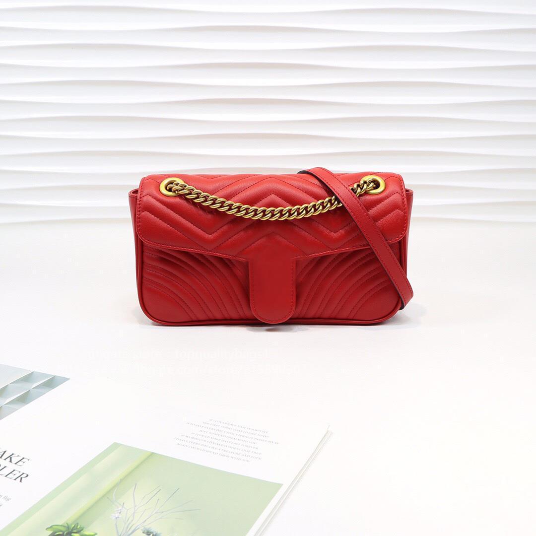 Marmont Hot продано мода кожаная сумка 26см высочайшее качество женщины женские дизайнеры на плечо ключевые шипин классическая подлинная цепочка новая сумка бесплатно люкс DNDC