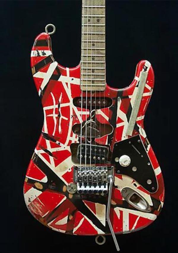 Custom Shop Masterbuilt Eddie Van Halen Frankenstein Heavy Relic Handmade Electric Guitar ,Floyd Rose Tremolo ,Bare Pickups ,Schaller Tuners