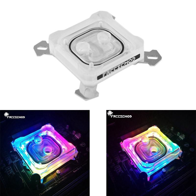 FREEZEMOD PK5E Computer CPU Water Block raffreddamento per LGA 1151 Piastra 115X 2011 5V 3Pin Rame Base RGB Luce