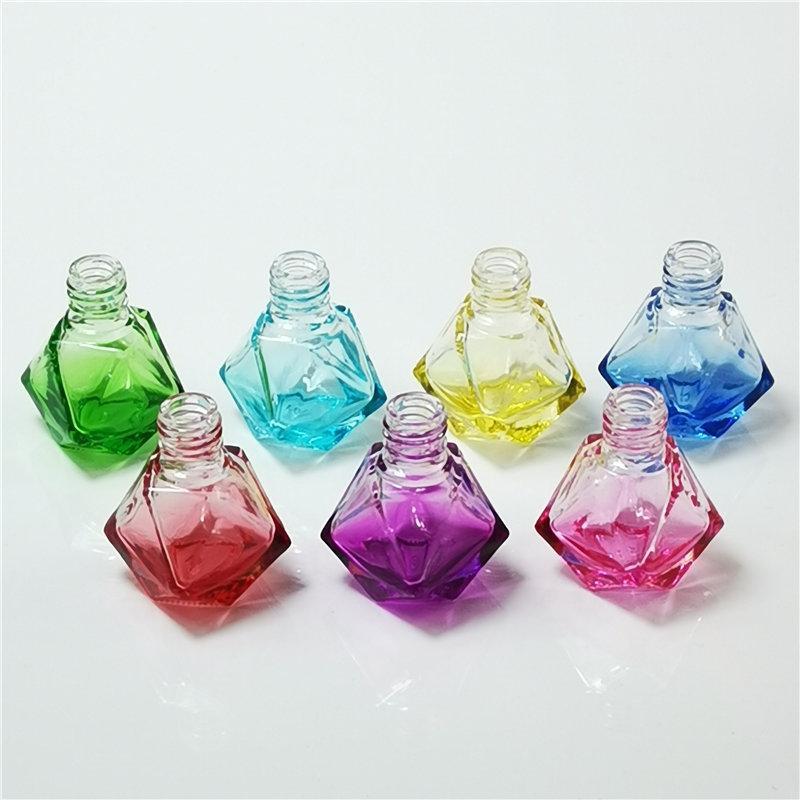 Diamant-Auto-Duftstoff-Flaschen-Anhänger leere Flasche Lufterfrischer Parfüm Duft Diffusor leeres Glas Tragbare Anhänger-Verzierung DWF2725