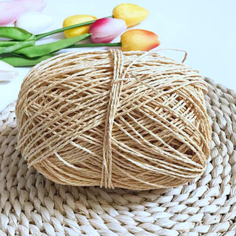 100g / ball rafia filato Kintting Carta paglia filato da lavori a maglia cappello di fantasia Filati Fiore imballaggio Estate Handmade Materiale C1030