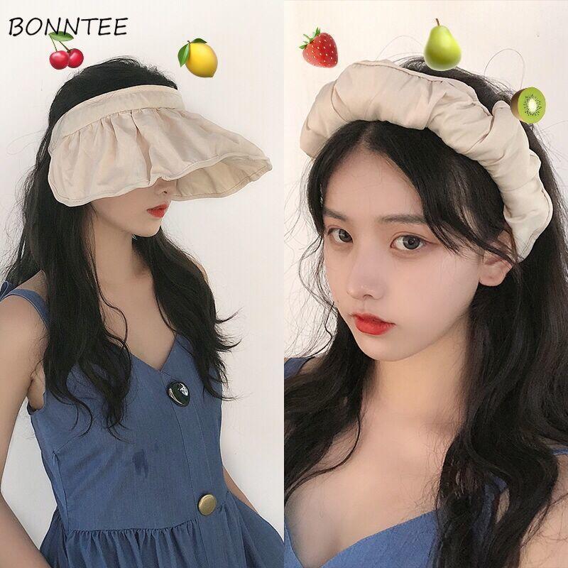 Cappelli donne Sun-protezione protezione esterna femminile pieghevole Parasole bello estate Chic ragazze d'avanguardia Ulzzang Ins disegno elegante giornaliera