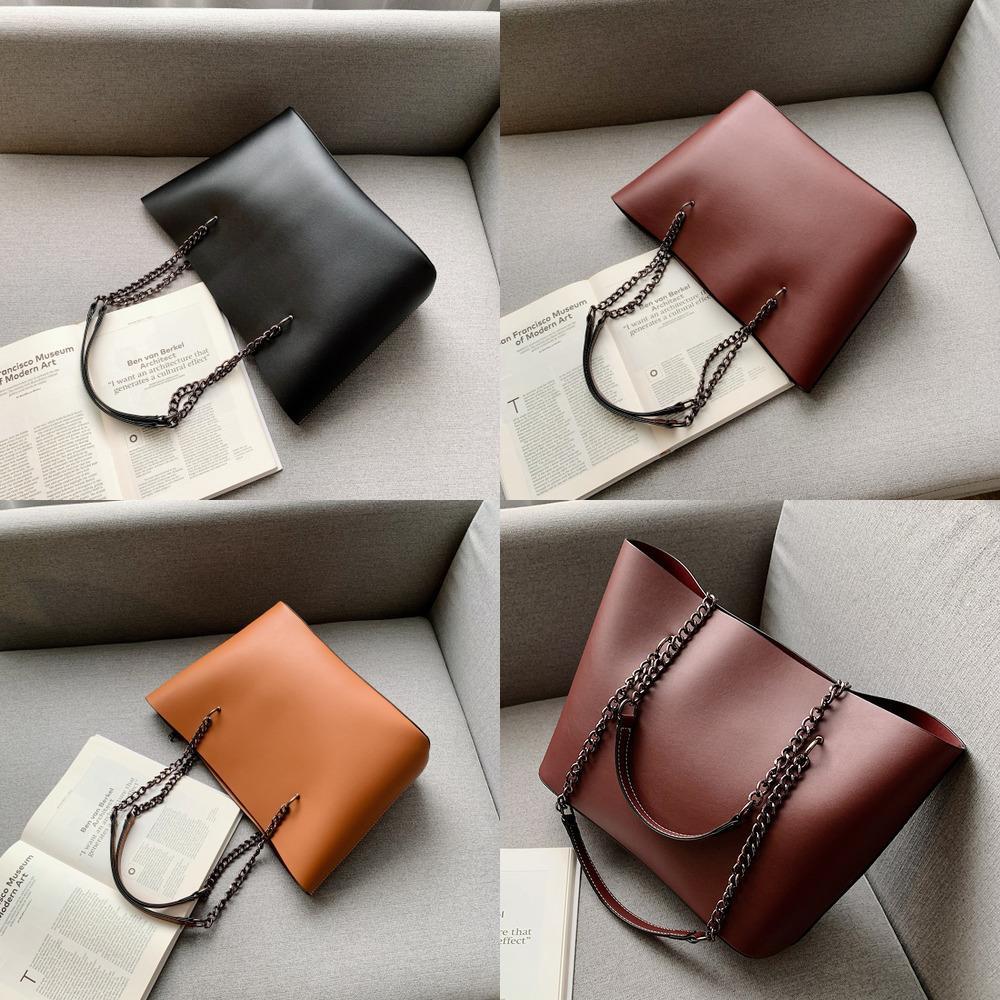 HBP Designer PU Leather For Women Fashion Chain High Capacity Handbags Travel Luxury Hand Female Large Shoulder Bag Q1221
