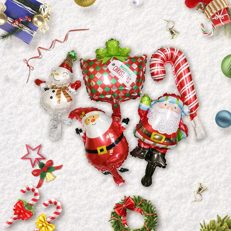 Merry Santa Plouth Foil Balloon Украшения для дома 2020 Навидад Рождественские украшения Новель Новый год 2021