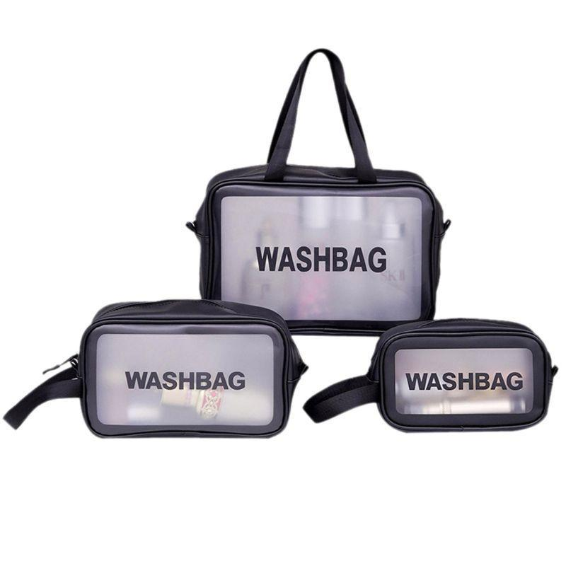 Bag Makeup Travel Портативные косметические ZIP Туалетные изделия Чехол Туалетная Информация Организатор Мойка Чехол Прозрачный Vehdt