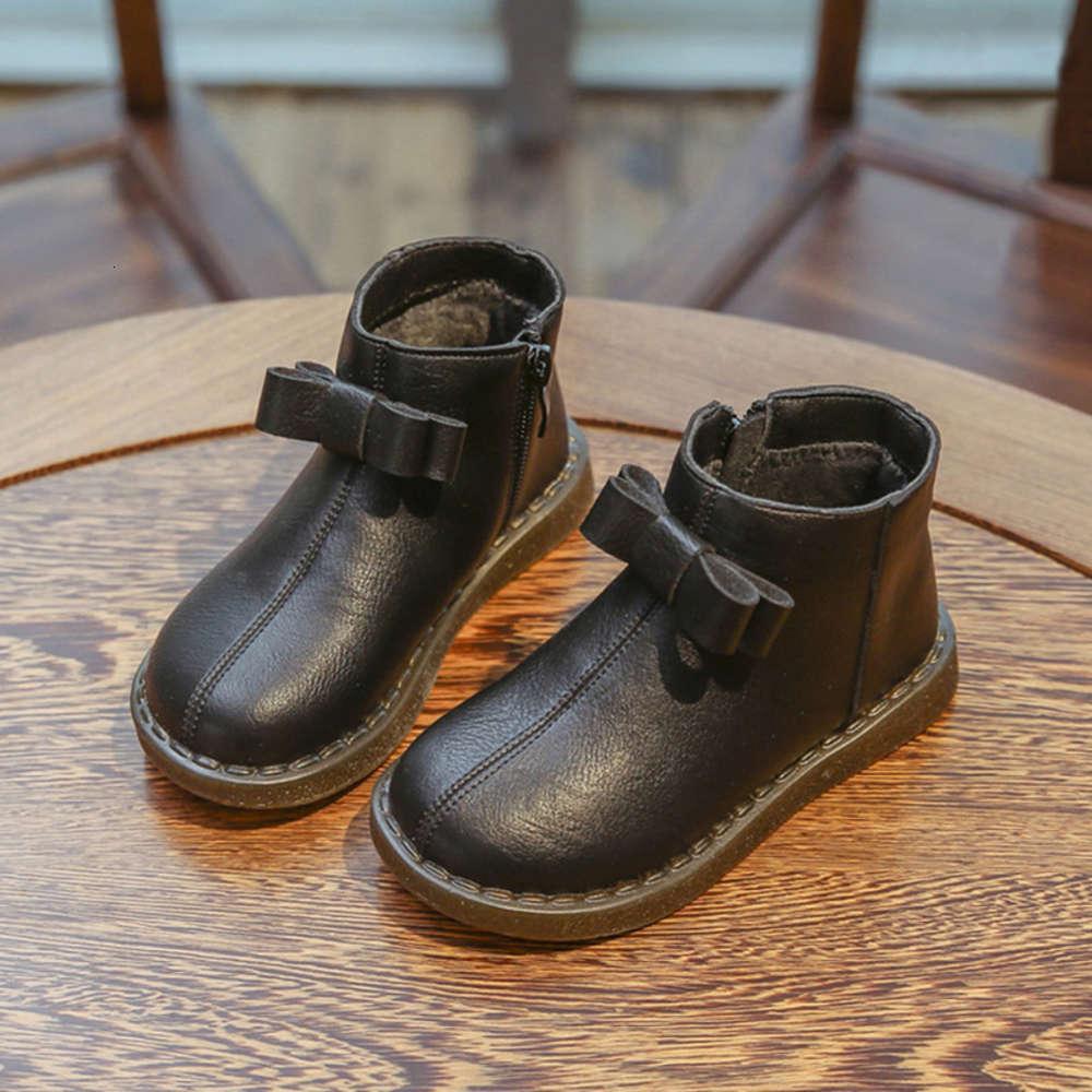 Breve Martin Fashion Britán British Sle Black Princips 'Botas para niñas Peluche de niños Invierno