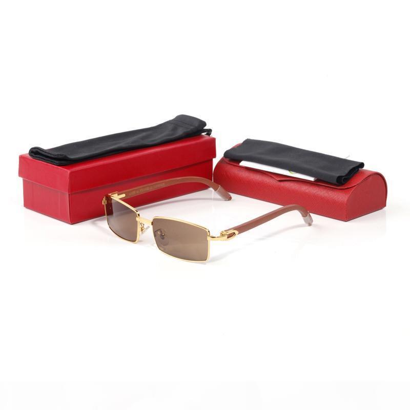 2020 herren mode sunglasses marke vintage gerahmte holzrahmen frauen sonnenbrille metall mit original box mode sunglasses mit box