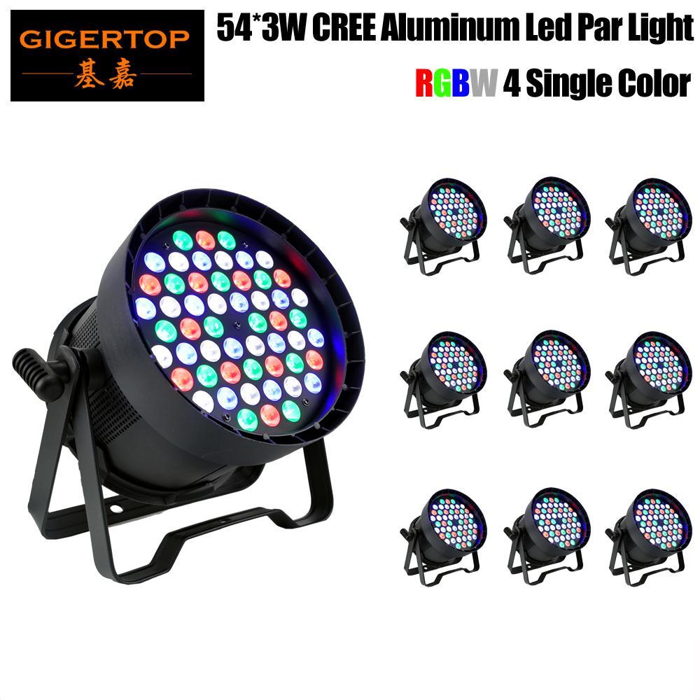 54x3w Led Par свет DMX512 Большого объектив RGBW 4in1 Led Flat Par LED DJ Свето оборудование диско свет на Новый год Рождество
